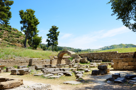 peloponnise: The entrance in ancient Olympia Stadium, Peloponnes, Greece