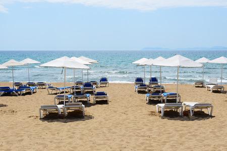 peloponnes: The beach of luxury hotel, Peloponnes, Greece