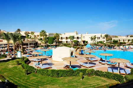 sharm el sheikh: SHARM EL SHEIKH, EGYPT -  NOVEMBER 28: The tourists are on vacation at popular hotel on November 28, 2012 in Sharm el Sheikh, Egypt. Up to 12 million tourists have visited Egypt in year 2012.