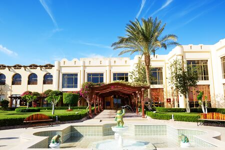 hotel building: Building and recreation area of the luxury hotel, Sharm el Sheikh, Egypt