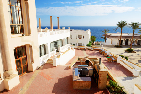 sharm el sheikh: Building of the luxury hotel, Sharm el Sheikh, Egypt