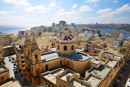 water view: The view on Sliema and Valleta Malta
