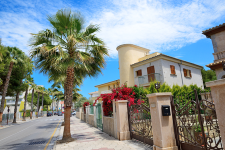 hollidays: The street and buildings on Mallorca island Spain Editorial