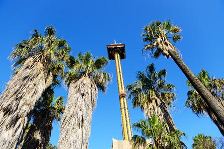 port aventura: The Hurakan Condor Ride in Port Aventura theme park, Salou, Spain