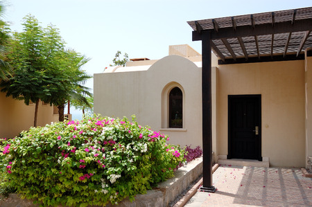 ras: Holliday villa at the luxury hotel and palm, Ras Al Khaimah, UAE Editorial