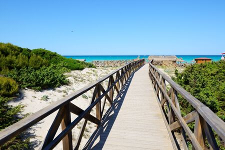 hollidays: The way to a beach, Mallorca, Spain Stock Photo