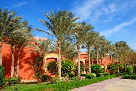 sharm el sheikh: Building and recreation area of the luxury hotel, Sharm el Sheikh, Egypt