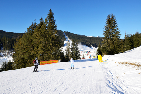 a slope: The slope of Bukovel ski resort, Ukraine