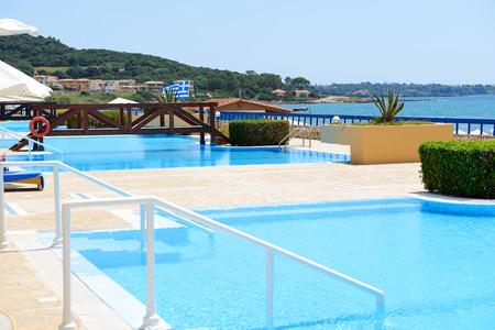 peloponnes: Swimming pool near luxury villa, Peloponnes, Greece
