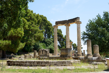 peloponnise: The Philippeion ruins in ancient Olympia, Peloponnes, Greece