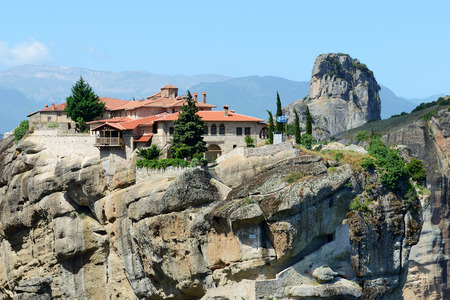 kalampaka: View on the Monastery of Holy Trinity, Meteora,  Greece