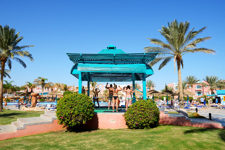 sharm el sheikh: SHARM EL SHEIKH, EGYPT -  NOVEMBER 29: The tourists are on vacation at popular hotel on November 29, 2012 in Sharm el Sheikh, Egypt. Up to 12 million tourists have visited Egypt in year 2012. Editorial