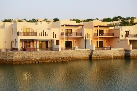 khaima: The luxury hotel during sunset, Ras Al Khaima, UAE Stock Photo