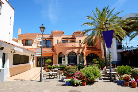 The outdoor restaurant at luxury hotel, Costa Dorada, Spain