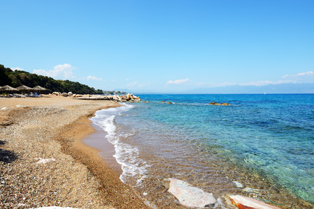 The beach at modern luxury hotel, Peloponnes, Greece