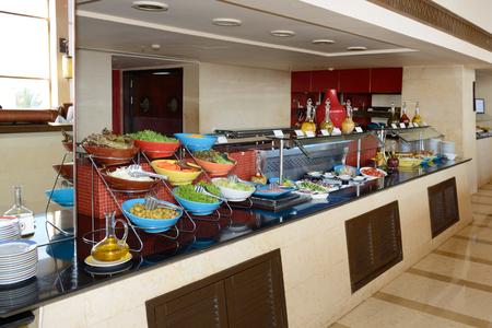 The restaurant of luxury hotel, Sharm el Sheikh, Egypt