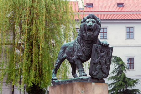 The Czech lion on the pedestal