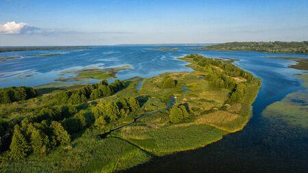 Îles du Dniepr délimité par l'Ukraine dronphoto Année 2019