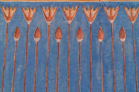 Egyptian colored ornament on the wall