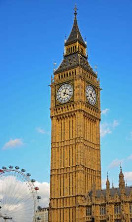 A view at Big Ben and London Eye Editorial