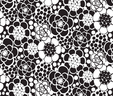 black and white nature vector composition, seamless Vector