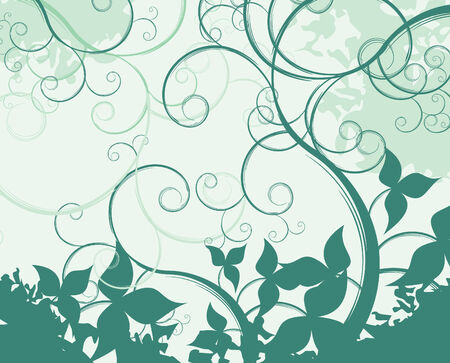 floral abstract vector composition Vector