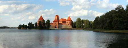 lithuania: Trakai castle in Lithuania Vilnius, Middle Ages Stock Photo