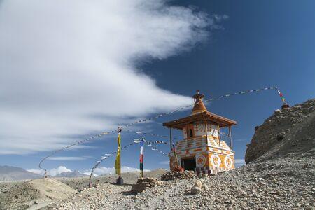 buddhist stupa: Buddhist stupa in Mustang, Nepal