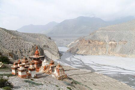 stupas: Buddhist stupas in Mustang, Nepal
