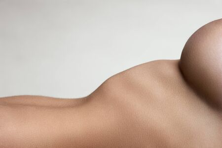 beauty breast: Part of the body female model with big breasts Stock Photo