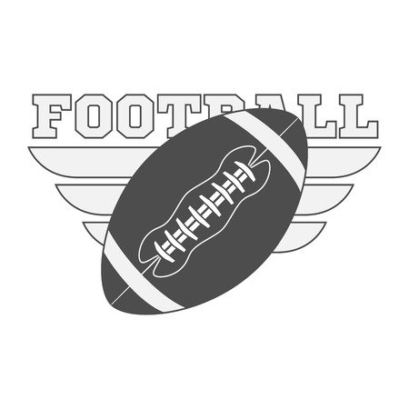 sport object: American Football Ball. Vector Illustration of sport Object