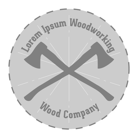 woodworking: Simple vector Design of woodworking Company Label
