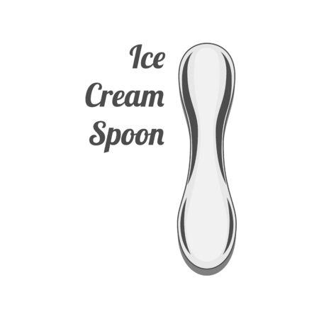 wares: Vector Design of Ice Cream Spoon Illustration