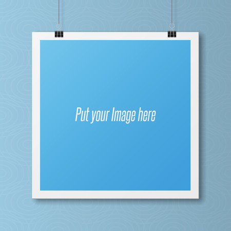 blank poster: Realistic blank Poster Template on Wall. Modern Mockup for your Portfolio