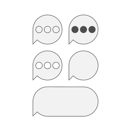 messaging: Flat bubble Icons for mobile text Messaging