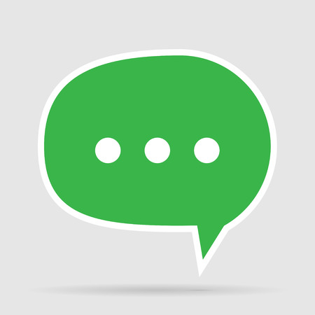 text messaging: Green Message Bubble Icon for text Messaging
