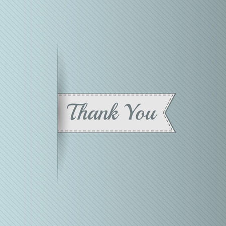 retro label: Realistic Ribbon with Thank You Text. Sale Bookmarks Design for Websites. Advertising promotional Label