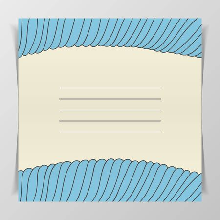 notebook cover: Striped blue wave Cover Design for Notebook