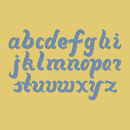 lettres alphabet: Dessin�e � la main des lettres d'alphabet latin. Lettrage pour votre design