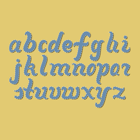 alphabet letters: Hand-drawn Letters of Latin Alphabet. Lettering for your Design Stock Photo