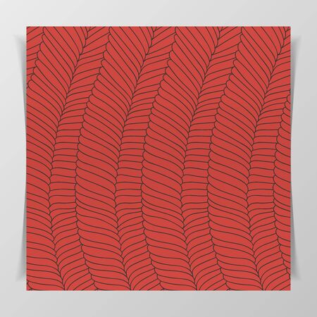 embryonic: Muscle Tissue flat Pattern for Biology Illustration or Notebook Cover