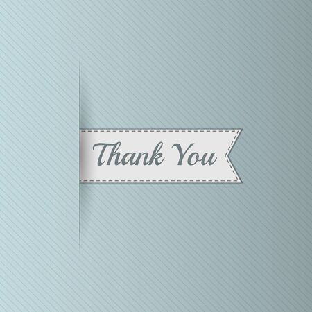 bookmarks: Realistic Ribbon with Thank You Text. Sale Bookmarks Design for Websites. Advertising promotional Label