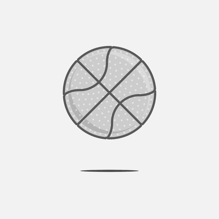 naming: Dribbling Basketball Ball icon. Design Element for Your Team Label or print on T-Shirt Stock Photo