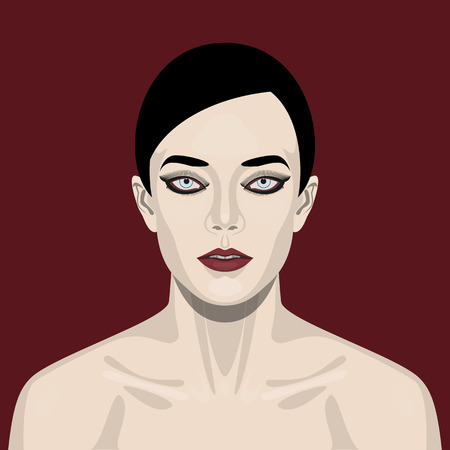 sexual health: Fashion beauty brunette Woman with smoky Eyes and red Lips Makeup