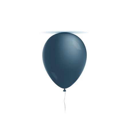 helium: Realistic helium blue Balloon with Lights and Shadows. design Element Stock Photo