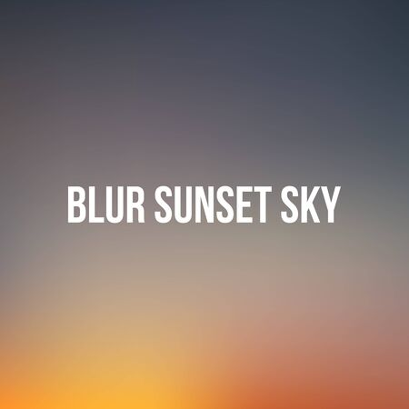 sunrise sky: Realistic vector blurred Sunset or Sunrise Sky. Background for Your Design