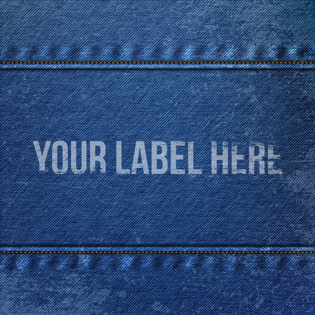 jeans fabric: Realistic Denim blue Cloth Texture. Vector Jeans Fabric Background