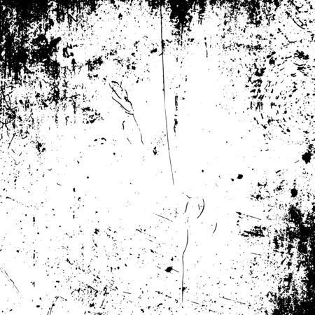 Realistisch grunge zwart en wit bekrast Textuur voor afdrukken op textiel of gebruiken als onderdeel van uw ontwerp Stockfoto