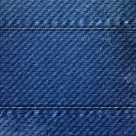 cloth texture: Realistic Denim blue Cloth Texture. Jeans Fabric Background
