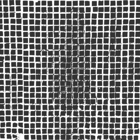 Old grunge Grid Texture. Closeup vector Background for Your Design